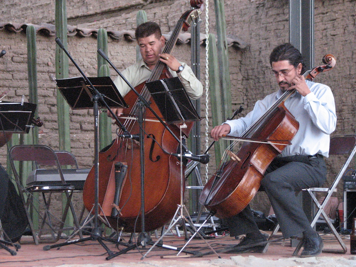 Part of thze string quartet