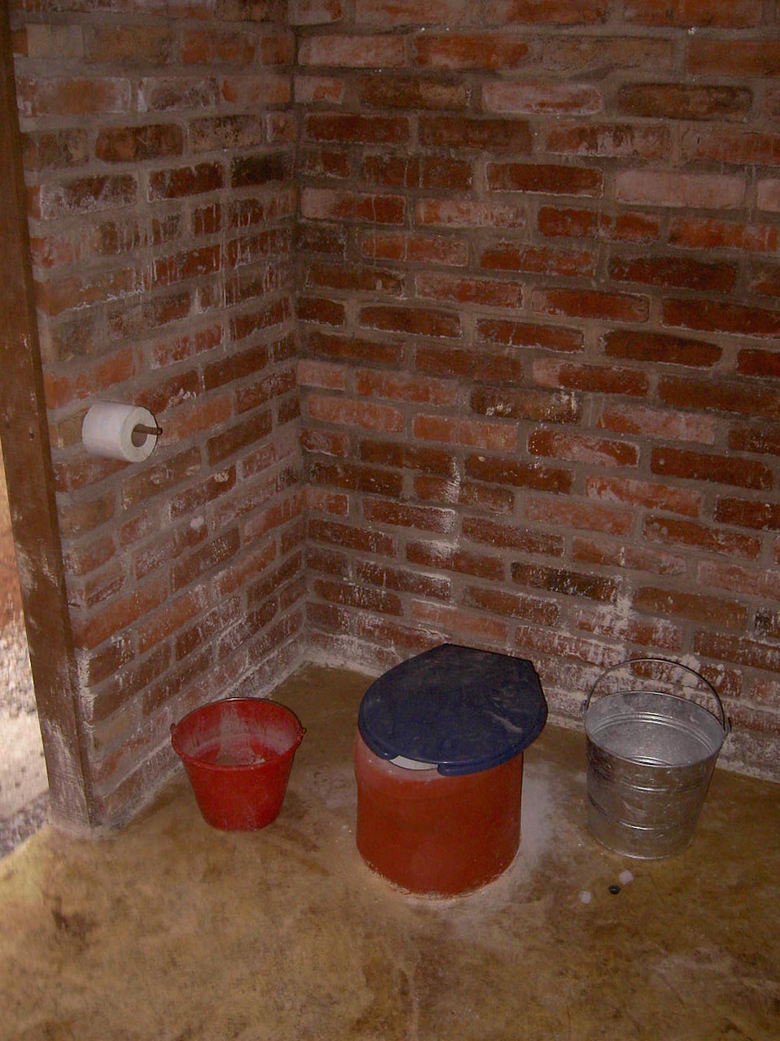 Interior of compost toilets