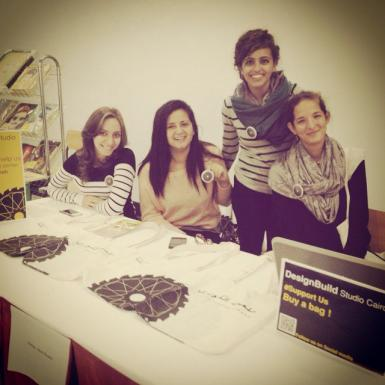 Booth at the GUC to fundraise the projecy by selling bags & pins with our logo