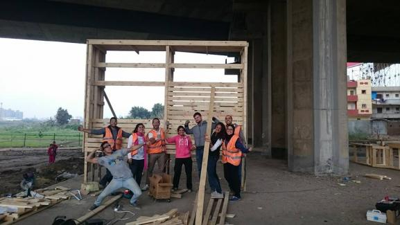 wood workshop_first test wall