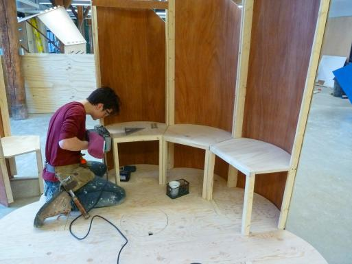 The Chair in fabrication