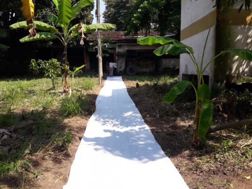 Path construction - permeable geotextile membrane
