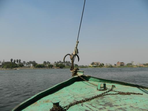 "From the ""Felouka"" , the small boat which is the only transportation mean between the Dahab Island & rest of Cairo"