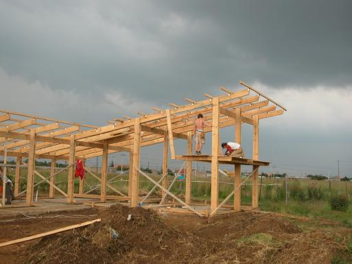 Emmanuel Daycare Center,  structural work under construction