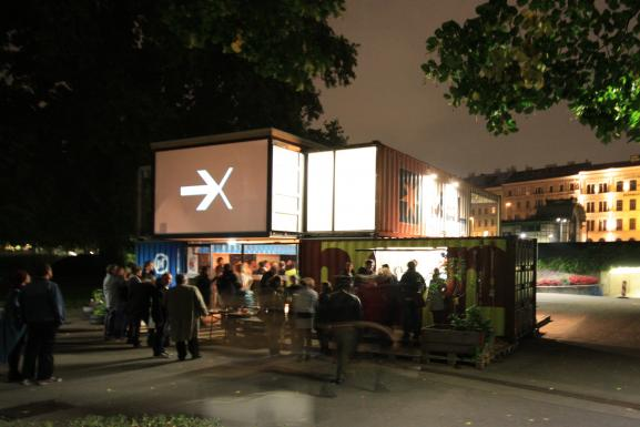 Mobiles Stadtlabor as festival-center for the popfest   © peter fattinger