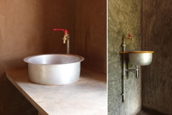 basin in treatment-room and shower