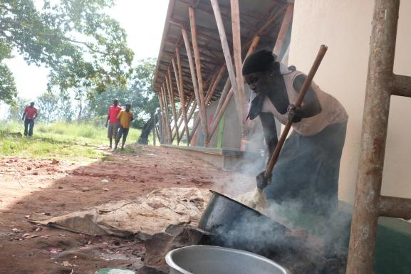 cooking on site