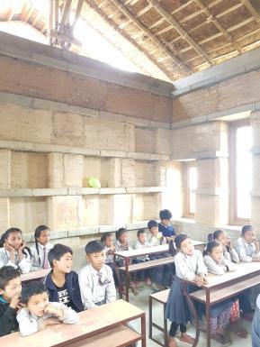 rammed earth class room