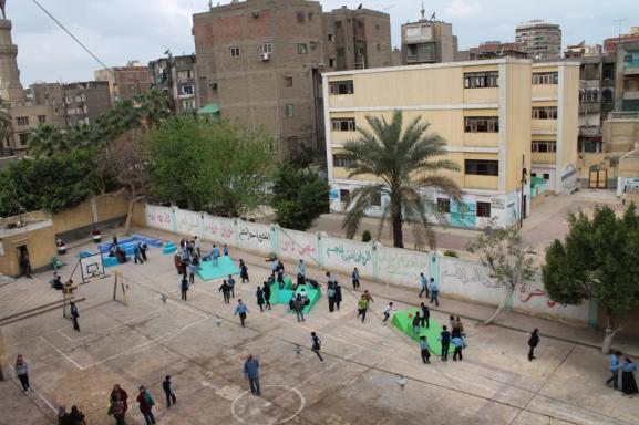 Panorama of the Shagarat Al Durr School in Islamic Cairo