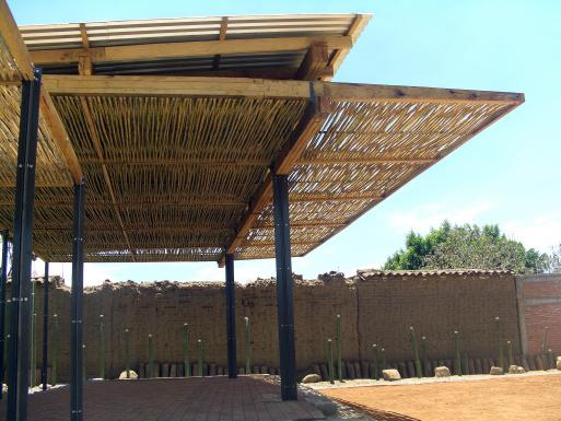 Stage with carrizo shading