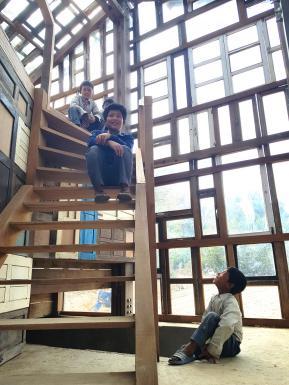 window stairs